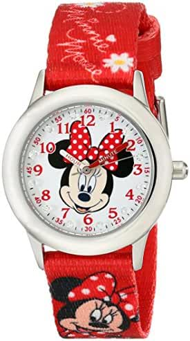 Disney Kids' W001917 Minnie Mouse Analog Display Analog Quartz Red Watch