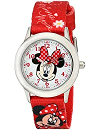 Kids W001917 Minnie Mouse Analog Display Analog Quartz Red Watch