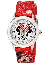 Disney W001917 Minnie Mouse Reloj analógico de cuarzo rojo para niños