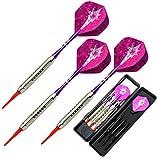 L.E.D STEP Soft Darts 18 g Darts Tournament Soft Tip Dart Set, Aluminum Darts Shafts with Flights
