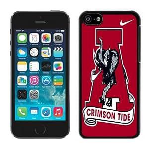 MMZ DIY PHONE CASEAlabama football Crimson Tide Black Hard Plastic ipod touch 5 Phone Cover Case