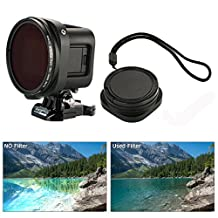 XCSOURCE Filter Adapter + 52mm CPL Filter Lens Set Adapter+ Protective Cap for Gopro Hero4