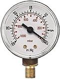 PRO-AIR vide de 63 mm 1/4 filetage BSP-Bas, BSPT jauges (à sec)