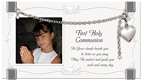 Cathedral Art GF201 First Holy Communion Glass Plaque Picture Frame, 7 by 4-Inch by Cathedral Art