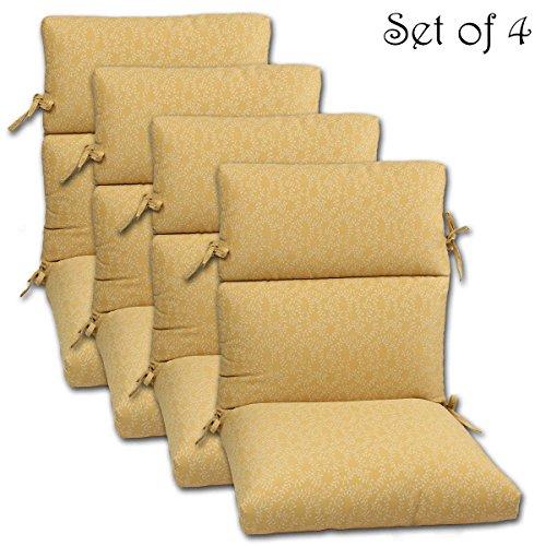 Set Of 4 22x44x5 Phifer S Geobella Indoor Outdoor Fabrics White