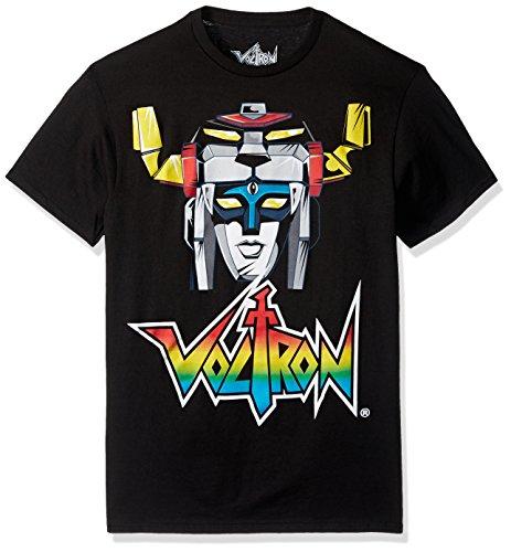 Voltron Men's The Head Short Sleeve T-Shirt, Black, Small