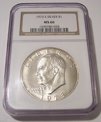 1973 S Eisenhower Silver Dollar MS66 NGC