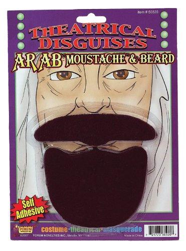 Arab Sheik Beard & Moustache (Beard Halloween)