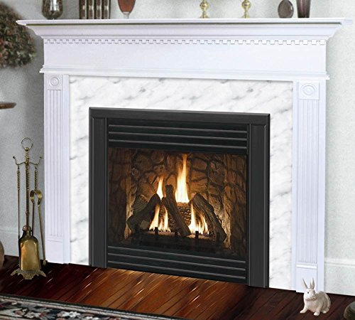 Hearth and Home Mantels Sienna Flush Fireplace Mantel in Satin White Finish (Pearl Tint 40 in. x 48 ()
