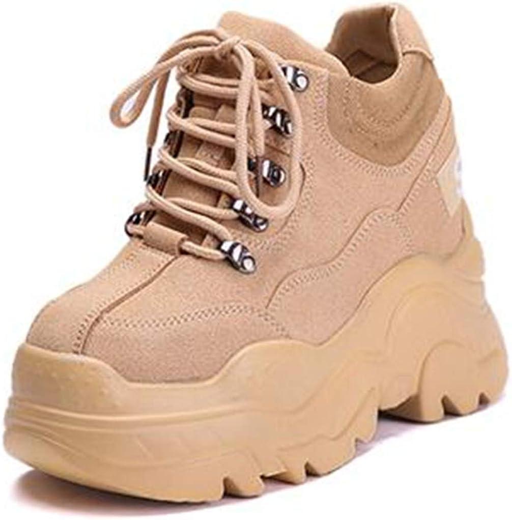 Damen Chunky Plateau Oxford Schuhe Schn/ürschuhe Runde Zehen Uniform Schwarz Loafer Schuhe f/ür Frauen
