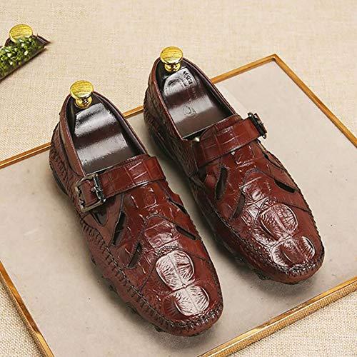 De Driving Paresseux Cuir Et De Out Hommes Chaussures De Les De Automne B Creux Hommes Chaussures Les Respirant Bureau Carrière Chaussures Pois 42 Pour Chaussures Printemps qnBnZT1