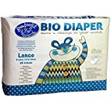 Bumboodle Natural Compostable Bio Diaper (Large 17.5-29lbs/8-13kg 28-Count)