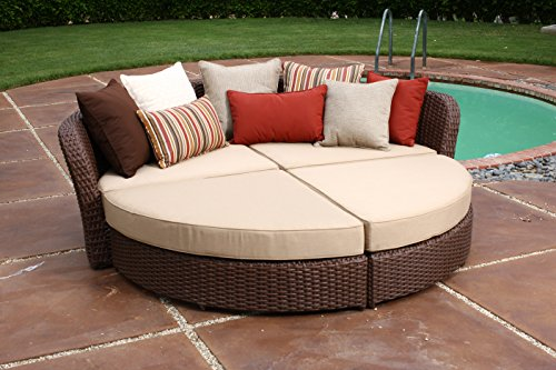 Montego Outdoor Wicker (Ace Evert, Montego Bay 21941 4pc Daybed; SUNBRELLA fabric; All weather wicker)
