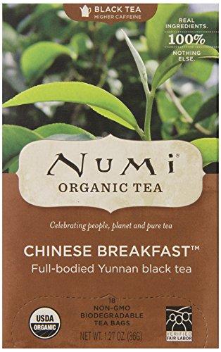 Numi Organic Tea Chinese Breakfast, Full Leaf Black Tea in Teabags, 18-Count Box (Pack of - Numi Chinese Breakfast Tea