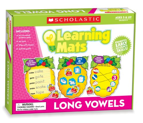 Scholastic Teacher's Friend Long Vowels Learning Mats, Multiple Colors (TF7111)