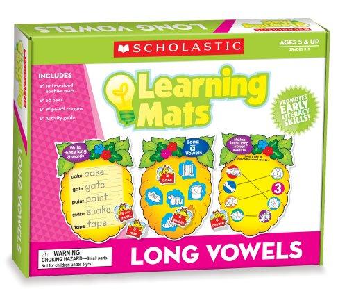 Scholastic Teacher's Friend Long Vowels Learning Mats, Multiple Colors (TF7111) (Scholastic Games)