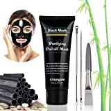 Facial Mask Hair Removal - Blackhead Remover Mask, YBB Bamboo Charcoal Black Mask, Anti-wrinkle Peel-off Mask Deep Cleansing Purifying Mask for Women and Men, Include Acne Removal Tool Kit (70g)