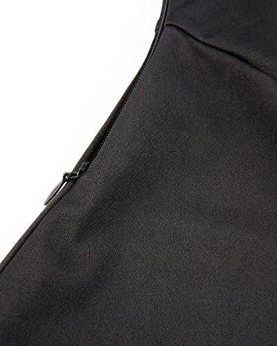 Cinturón con Manga GAMISS Elegante Negro M Mujer Vestidos Coctel Larga 2XL Vestidos Dress de Fiesta xXqUXYZw