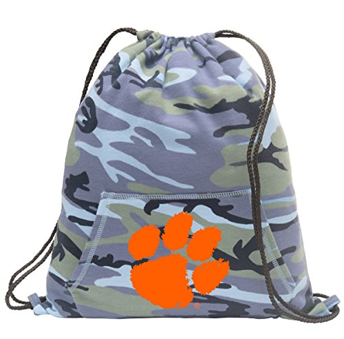 Broad Bay Clemson Camo Drawstring Bag Cool Hoody Clemson Tigers Cinch Pack
