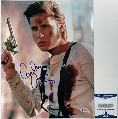 CLASSIC!!! BREAKFAST CLUB Emilio Estevez Signed YOUNG GUNS 11x14 Photo #2 - Tom Contact Ford