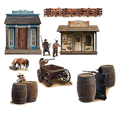 Wild West Shootout Props Party Accessory (1 count) (9/Pkg) (Wild West Accessories)