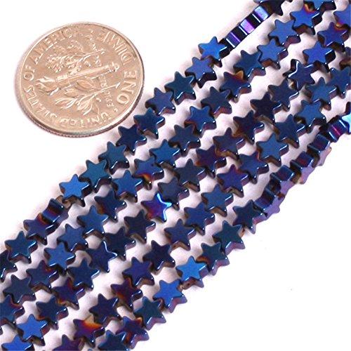 "Joe Foreman Hematite Beads for Jewelry Making Gemstone Semi Precious 4mm Star Blue Metallic Coated 15"" from Joe Foreman"