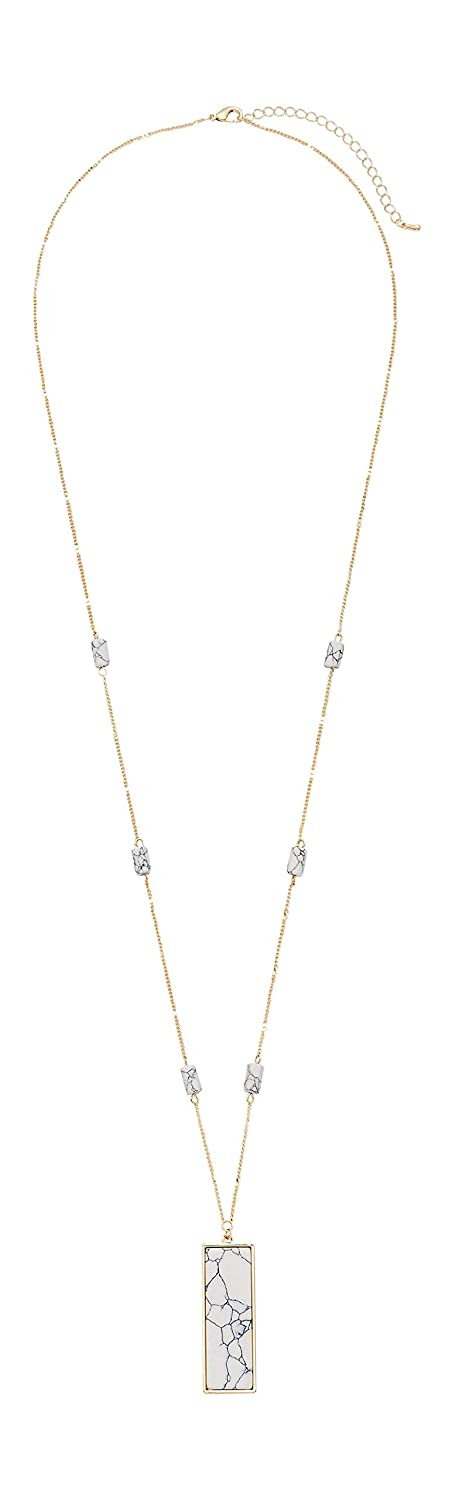 Maurices Womens Rectangular Pendant Necklace