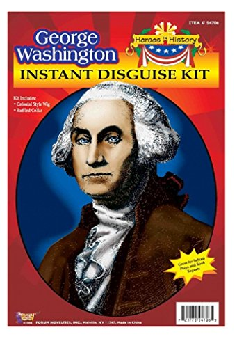 Kids George Washington Costumes Kit (Child Heroes in History Instant Disguise Kit - George Washington - Wig and Collar)