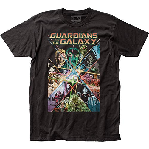 Guardians of The Galaxy Gauntlet Fitted Jersey tee (Large) Black