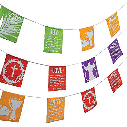 Fun Express - Holy Week Banner for Easter - Party Decor - Hanging Decor - Pennants - Easter - 1 -