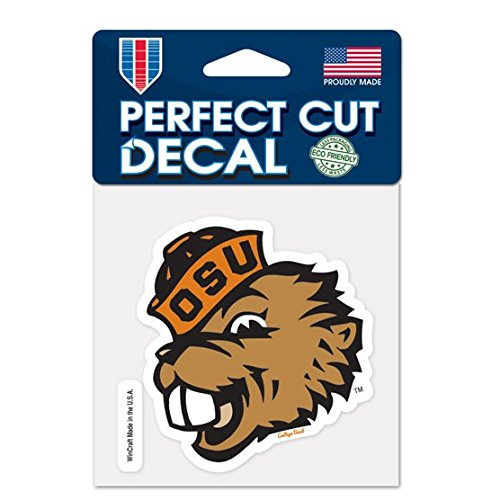 Oregon State Beavers Official NCAA 4 inch x 4 inch Die Cut Car Decal by Wincraft (Oregon State Logo Plate)