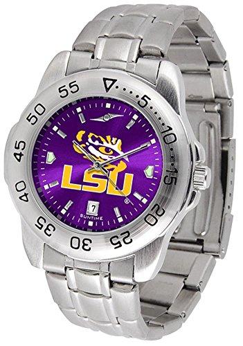 LSU Tigers Sport Steel AnoChrome Men's Watch (Anochrome Watch Steel)