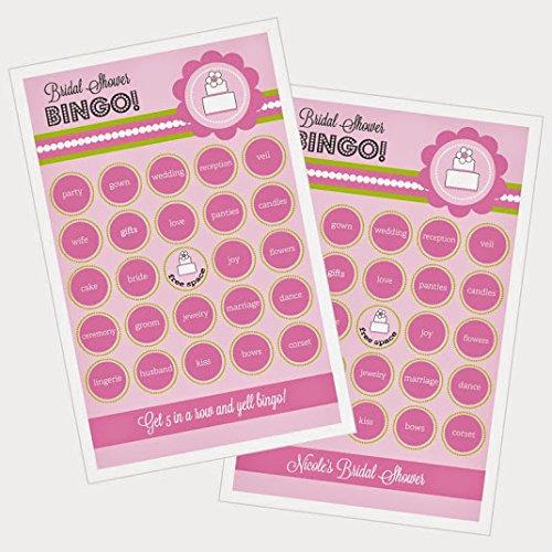3 sets of 16 Pink Cake Bingo by Eventblossom