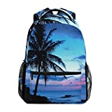 Tropical Palm Tree School Backpack Shoulder Large Bookbag Laptop Daypack