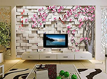 Yosot 3D Tapeten Blumen Blumen Fototapete Wandmalerei Wohnzimmer ...
