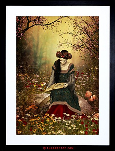 Fairy Framed Print - Wee Blue Coo The Art Stop Painting Fantasy Woman Reading Forest Fairytale Framed Print F97X8003