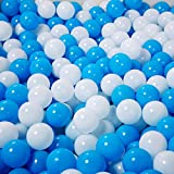 SHUO Free BPA Crush Proof Plastic Ball, Pit Balls Colorful Fun Soft Plastic Air-Filled Ocean Ball Palyballs for Baby Child Tent Swim Toys (50pcs/pack)
