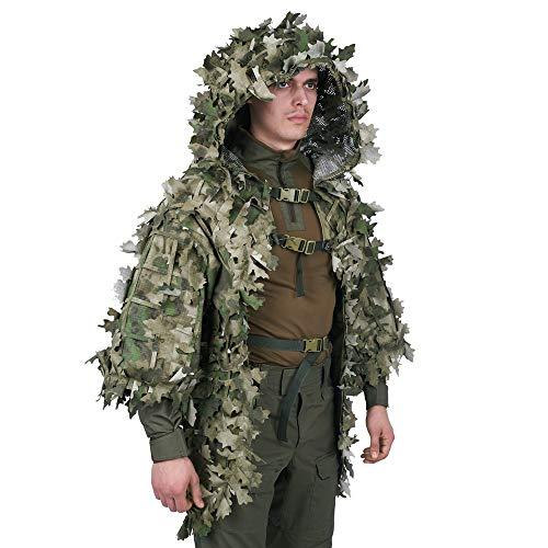 b0d66491859 Giena Tactics Ghillie Suit Alligator 3D Russian Sniper Coats Viper Hoods