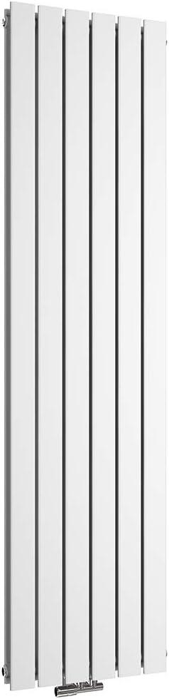 WELMAX Design Heizk/örper Vertikal Flach 1800x460 mm Anthrazit Paneelheizk/örper Doppellagig Mittelanschluss Heizung