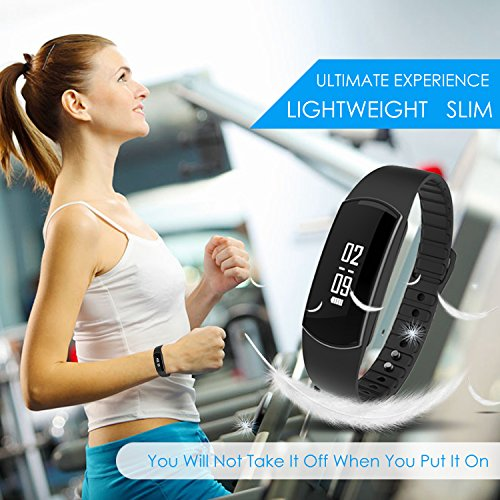 Fitness Tracker, Alisten Smart Band Activity Health Tracker with Touch Screen for Step Distance Calories track, Sleep monitor, pedometer for iPhone Android!