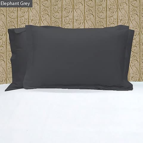 Thread Spin Hotel Collection 2 Piece Pillowshams 600 Thread Count Egyptian Cotton Sateen Size Standard Color Elephant Grey.