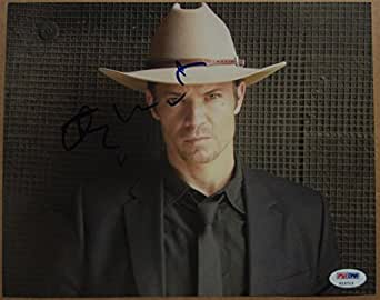 Timothy Olyphant signed 8x10 photo Raylan Givens Justified PSA/DNA Cer