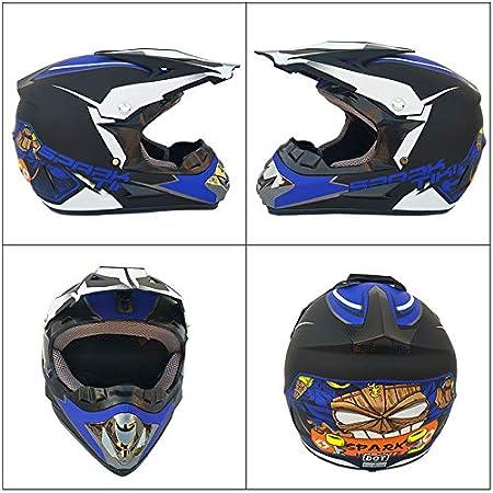 Ocamo Fashion Outdoor Off Road Casco Motorcycle /& Moto Dirt Bike Motocross Racing Helmet Set with Mask XL Matte black and green