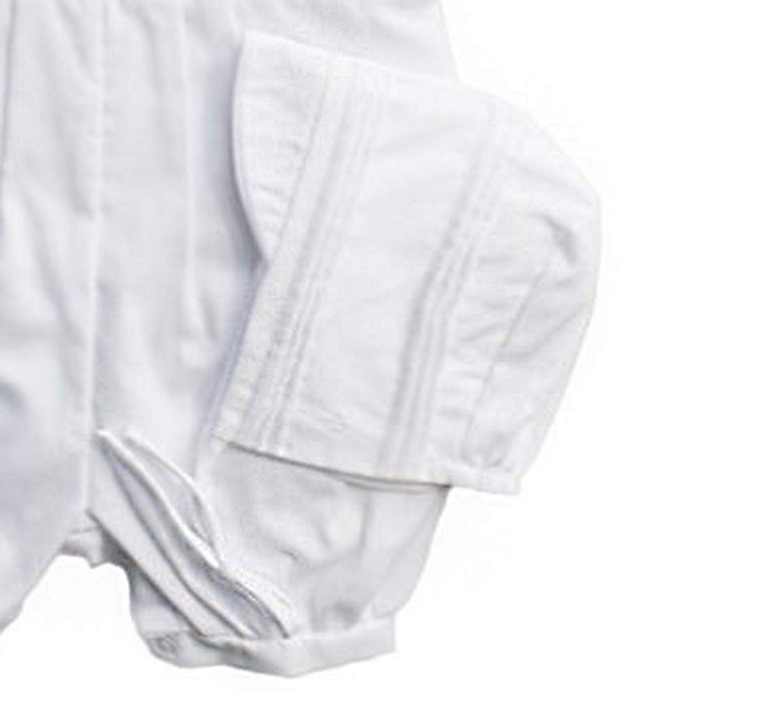 Baby Boys Rompers Pique Christening Baptism Knickers and Hat (12 Months) White by Baby Jett Setters (Image #4)