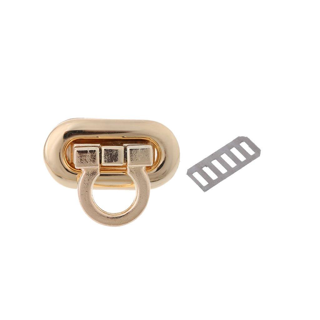 Sarora Handbag Lock, Metal Clasp Turn Lock Twist Lock for DIY Handbag Craft Bag Purse Hardware (Light gold)