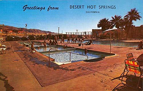 Desert Hot Springs California Mineral Water Well Pool View Postcard K101531