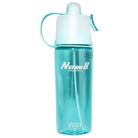 UPSTYLE plástico spray deportes botella de agua libre de BPA botella de agua potable directa para