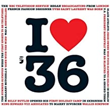 1936 Birthday Gifts - 1936 Chart Hits CD and I Love 1936 Greeting Card