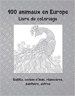 100 Animaux En Europe Livre De Coloriage Buffle Cochon D Inde Rhinoceros Panthere Autres Amazon Co Uk David Anais 9798656062732 Books