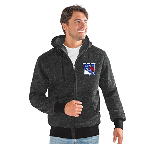 G-III Sports NHL New York Rangers Men's Discovery Transitional Jacket, X-Large, Black ()